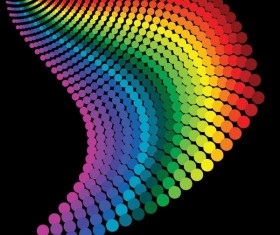 Gradient colorful dots background vector
