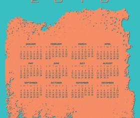 2016 Calendars grunge vectors