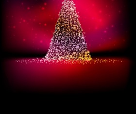 2016 Christmas tree with Halation background vector 01