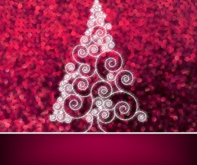 2016 Christmas tree with Halation background vector 02