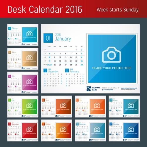 Year Calendar Desk : Yearly desk calendar zoro blaszczak