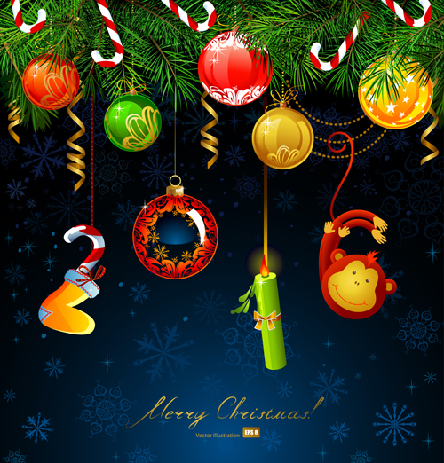 2016 christmas baubles ornaments vector background free download 09c95c73f9