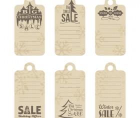 2016 christmas big sale tags vector set 01