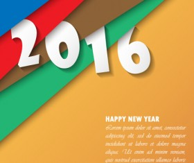 2016 new year creative background design vector 05