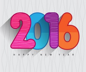 2016 new year creative background design vector 06