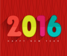 2016 new year creative background design vector 11