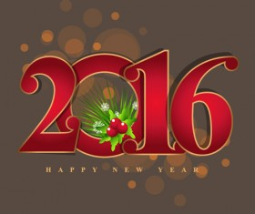 2016 new year creative background design vector 13