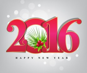2016 new year creative background design vector 14