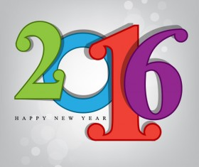 2016 new year creative background design vector 15
