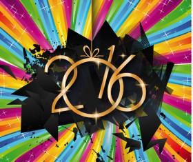 2016 new year creative background design vector 21