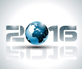 2016 new year creative background design vector 22