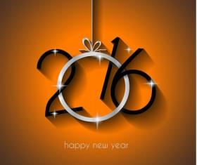 2016 new year creative background design vector 23