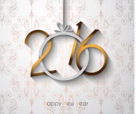 2016 new year creative background design vector 24