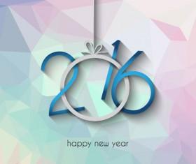 2016 new year creative background design vector 26