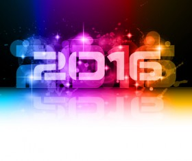 2016 new year creative background design vector 27