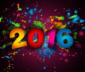 2016 new year creative background design vector 28