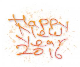 2016 new year creative background design vector 29