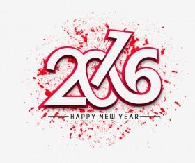 2016 new year creative background design vector 30