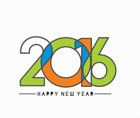 2016 new year creative background design vector 33