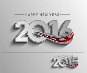 2016 new year creative background design vector 34