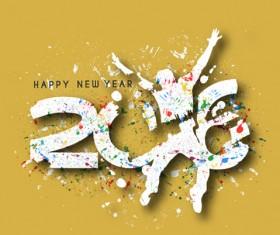 2016 new year creative background design vector 37