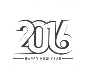 2016 new year creative background design vector 40