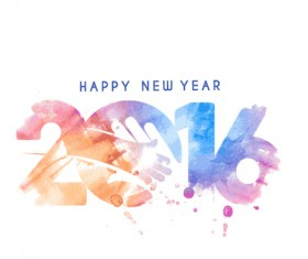 2016 new year creative background design vector 41