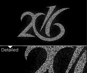 2016 new year creative background design vector 46