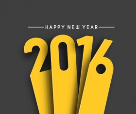 2016 new year creative background design vector 47
