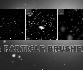 3 Kind particle Photoshop brushes
