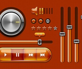 Audio player psd UI set 03