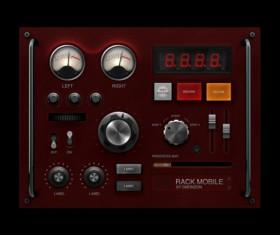 Audio player psd UI set 04