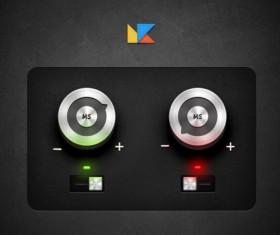 Audio player psd UI set 05