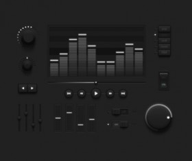 Audio player psd UI set 06