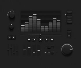 Audio player psd UI set 06