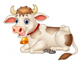 Beautiful cow cartoon vector