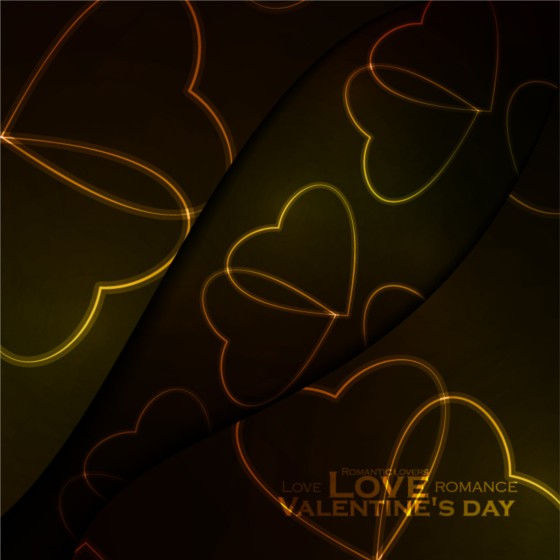 Beautiful heart shaped Valentine Day background vector