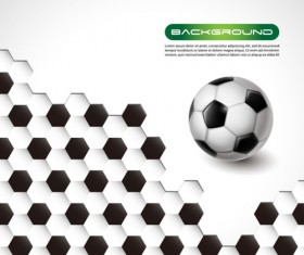 Black with white honeycomb and football vector