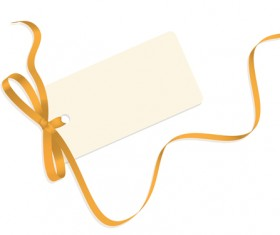 Blank tags with colored ribbon vector 03