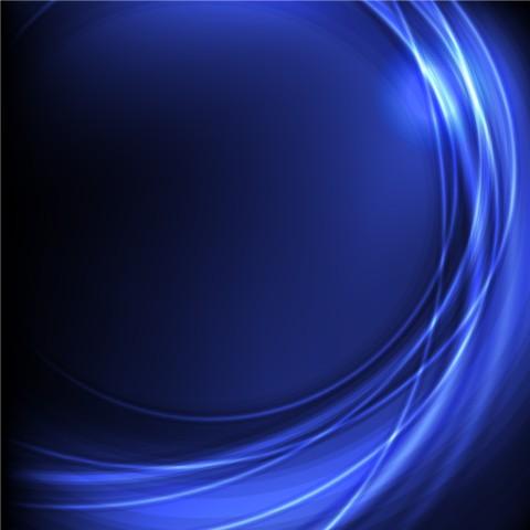 blue arc design