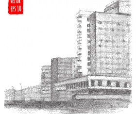 Blurs city street hand drawn vector 13