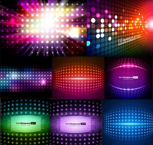 Brilliant light neon background vector