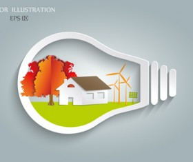 Bulb with Eco business illustration vector 03