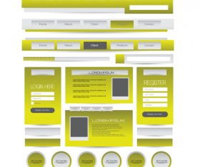 Business website template kit vector 15
