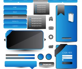 Business website template kit vector 16
