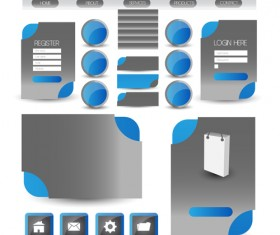Business website template kit vector 18