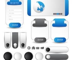 Business website template kit vector 22