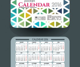 2016 vector page 24 for free download calendar 2016 with business cards vector 11 reheart Image collections