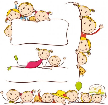 cartoon children painting vector - Free Download Cartoon For Children
