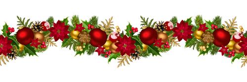 christmas decorative seamless borders vectors 03 free download. Black Bedroom Furniture Sets. Home Design Ideas